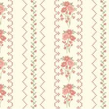 100 Flannel Flower Glass Henry Fabrics Gentle Garden Needlepoint Look With Small Floral Stripe