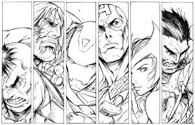 Printable Avengers Coloring Sheets