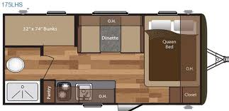 Keystone Hideout Single Axle 175LHS Travel Trailer Floorplan