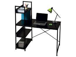 bureau metal verre bureau allblack vente de bureau conforama