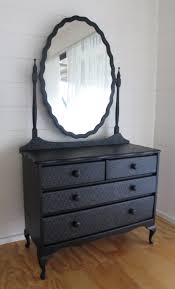 Black Dresser 4 Drawer by Victorian 4 Drawer Dressing Table With Mirror In Midnight Black