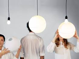 simple sphere transforms bare bulbs to soft ceiling lights