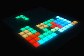 Tetris Stackable Led Desk Light by Tetris Led Table With Gamepad Arduino Electronics Retro Game