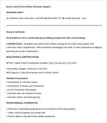 Police Officer Resume Template Pdf 6 Templates Doc Free Premium Download