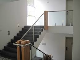 Glass Banisters For Staircases - Neaucomic.com Stairs Amusing Stair Banisters Baniersglsstaircase Create Unique Metal Handrailings With Pinnacle Staircase And Hall Contemporary Artwork Glass Banister In Best 25 Glass Balustrade Ideas On Pinterest Handrail Wwwstockwellltdcouk American White Oak 3 Part Dogleg Flight Frameless Stair Railing Elegant Safety Architecture Inspiring Handrails For Beautiful Amusing Stright Banister With Base Frames As Decor Tips Cool Banisters Ideas And Newel Detail In Brown