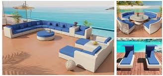 Outdoor Sectional Sofa With Chaise by Outdoor Wicker Patio Furniture Package Lounges 1