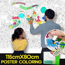 DIYKIDS Poster Color Colouring Book Secret Garden Enchanted Forest Johanna Basford Anti Stress Nature Paris The Time Staedtler Colored