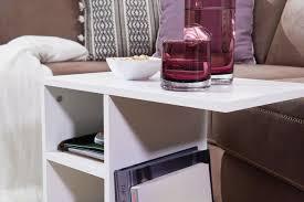 beistelltisch milo 50x50x30 cm holz weiß design anstelltisch sofa couchtisch klein modern kleiner wohnzimmertisch eckig sofatisch ablagetisch