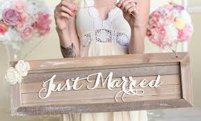 Rustic Just Married Wedding Sign Country Barn Wood NEW 2014 Design By Morgann Hill Designs Item Number MHD20045