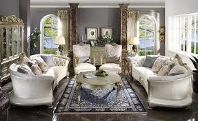 100 2 Sofa Living Room 54875 Bone PU Gold Patina Finish Acme Dresden II Collection