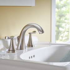 Brushed Nickel Bathroom Faucets Cleaning by Chatfield 2 Handle Widespread Bathroom Faucet American Standard