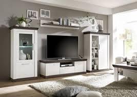 dreams4home wohnwand pennie set glasvitrine highboard tv lowboard wandregal medienwand phono möbel landhaus aufbewahrung wohnzimmer