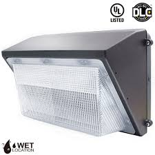dlc qualified led wall pack light fixture 45w 70w torchstar