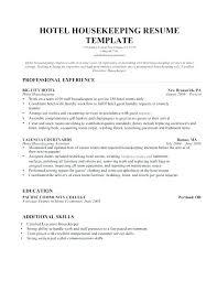 Housekeeper Resume Sample Housekeeping Samples Free Resumes Tips Room Attendant