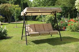 Semi Circular Patio Furniture by Patio Swing Canopy Replacement Bed Made Of Oak Wood In Brown