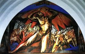 josé clemente orozco prometeo mural técnica mixta 1930