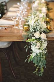 Cascading Table Runner For Chic Rustic Wedding Ideas
