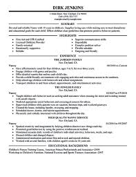 100 Free Professional Resume Templates Nanny Examples Are Made For Those Who Withee Cv