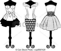 Vintage Dress Clipart 1
