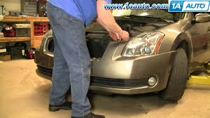 how to install replace front bumper cover nissan maxima 04 08