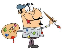 Artist Clipart Image An Holding A Palette And Paintbrush