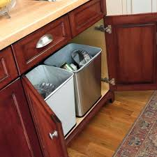 Under Cabinet Trash Can Holder by Cabinet Trash Can Holder Real Solutions For Real Life 19 In H X 9