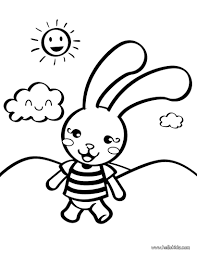 Rabbit Toy Coloring Page