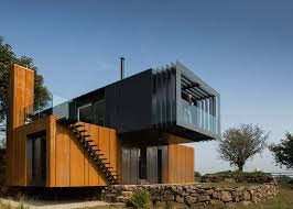 104 Steel Container Home Plans Grillagh Water House Built From Stacked Shipping S