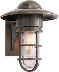 marine wall light but chrome with clear glass above front door