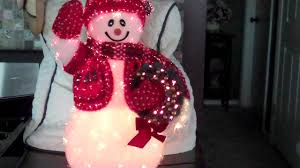 Avon Fiber Optic Halloween Decorations by Twinkling Fiber Optic Snowman Youtube