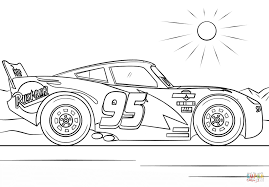 Click The Lightning McQueen From Cars 3 Coloring