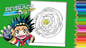 Beyblade Burst Coloring Pages Book Coloriage Beyblade Burst YouTube