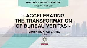 bureau verita bureau veritas bvvby investor presentation slideshow bureau