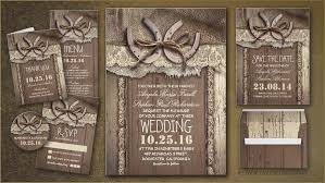 Country Horse Shoe Inspired Wedding Invitations