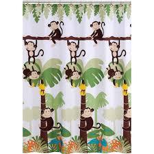 Bathroom Curtains At Walmart by Mainstays Monkey Decorative Bath Collection Shower Curtain