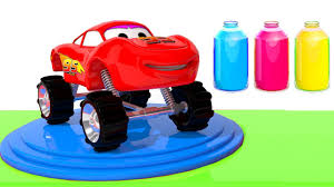 100 Lightning Mcqueen Truck Learn Colors With Cars For Children