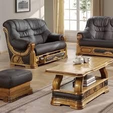 canap rustique salon cuvette canapé rustique stylisé tiroirs cuir vachette barbade