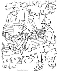 Free Printable Camping Coloring Pages Kids