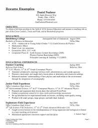 Substitute Good Teacher Resume Examples Sample Template Ideas