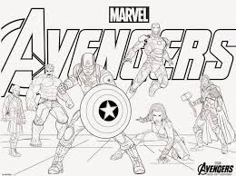 Avengers Coloring Pages All Heroes