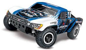 100 Short Course Truck Traxxas Slash 4X4 VXL Brushless 110 4WD RTR Blue