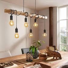 townshend lineare hängele l100 cm 6 glühbirnen holz schwarz