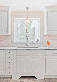 Chandelier Over Bathroom Sink by Over The Kitchen Sink Lighting Bathroom Contemporary With Crown