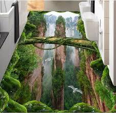 3d wandbild tapete 3d boden wald tal peaks wasserdichte tapete für badezimmer 3d boden wandbilder papierrollen