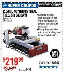 Harbor Freight Tile Saw 10 by Harbor Freight Super Coupons Are Here Milled
