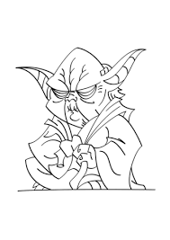Click To See Printable Version Of Yoda Coloring Page
