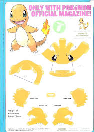 Templates Paper Craft Pokemon Papercraft Free Beautiful Best Characters Images On Charizard