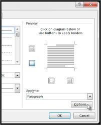 Borders And Shading Dialog Box