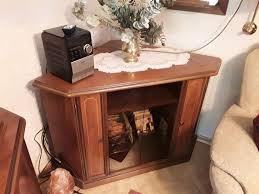 eckschrank tv oder phono nussbaum vollholz