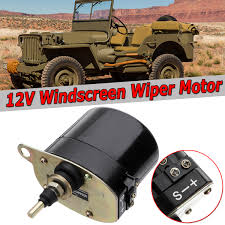 100 Willys Truck Parts Universal Black Windshield Wiper 12V Motor For Jeep 01287358